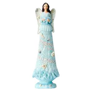 Angel con traje azul de 38x12cm