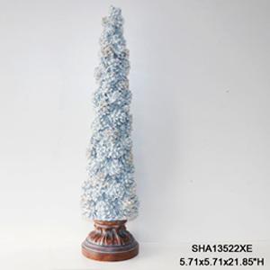 Árbol nevado con bellotas de 55x13cm