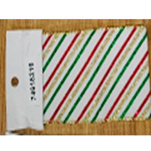 Rollo de liston de 6cm estampado tricolor con 9m