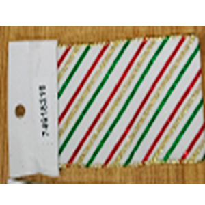 Rollo de liston de 10cm estampado tricolor con 9m