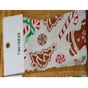 Rollo de liston de 6cm estampado caramelos y pinos con 9m