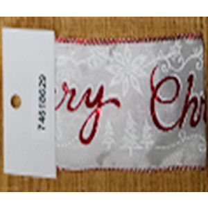 Rollo de liston de 6cm estampado letras Merry Christmas con 9m