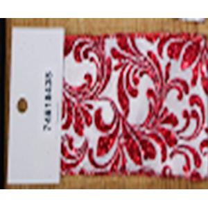 Rollo de liston de 10cm estampado flores rojas con 9m