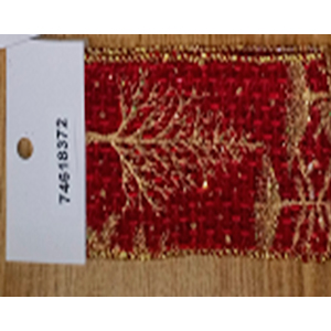 Rollo de liston de 6cm estampado arboles dorados con 9m