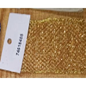 Rollo de liston de 6cm estampado malla dorada con 9m