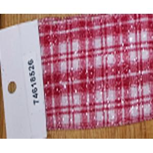 Rollo de liston de 6cm blanco con rojas estampado cuadros con 9m