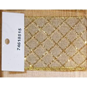 Rollo de liston de 10cm estampado rombos dorados con 9m