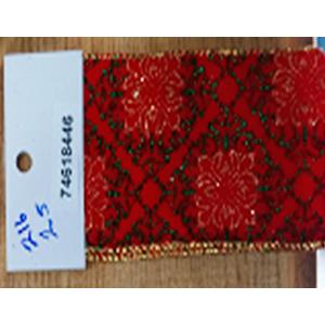 Rollo de liston de 6cm cuadros rojos con 9m