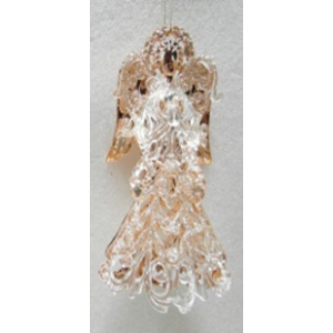 Colgante de angel transparente con cobre
