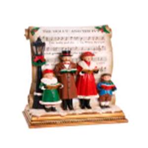 Coro navideños sobre libro con luz led de 30cm usa AAA