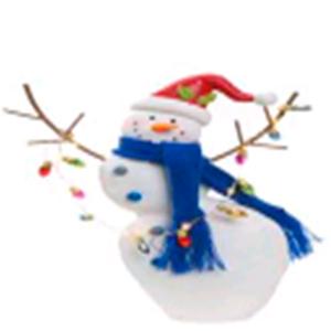 Muñeco de nieve y serie de luz led de 28cm usa bateria de litium