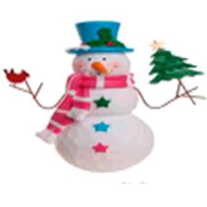 Muñeco de nieve con Árbol en manos de 25cm
