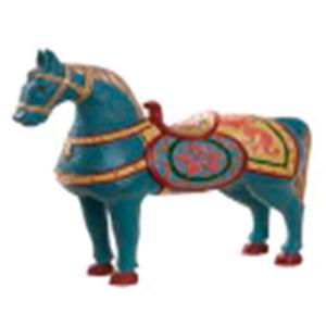 Caballo tipo madera azul de 31cm