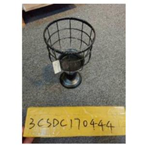 Candelabro de metal con pedestal negro de 14x14x26