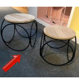Mesa nido de madera diseño círculos de 41x42cm