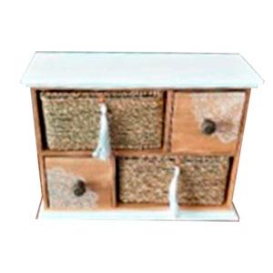 Alhajero de madera con 4 cajones de 24x32x12