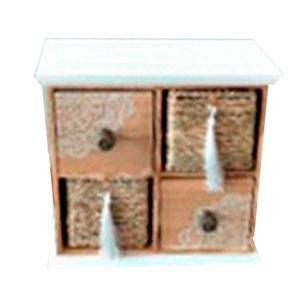 Alhajero de madera con 4 cajones de 24x24x12