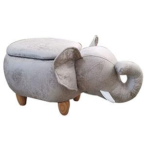 Caja con tapa diseño elefante gris de 72x35x36cm