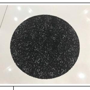 Mantel individual con brillos negros de 33cm