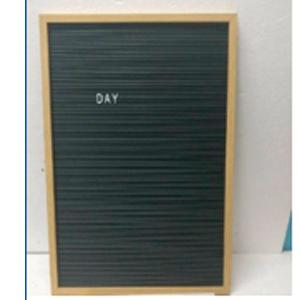 Pizarrón para letras de plástico con 286 letras de 41x61x2cm