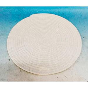 Mantel de cordon tejido blanco de 38cm