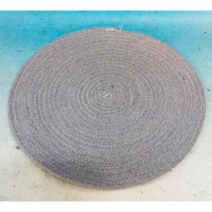 Mantel de cordon tejido gris de 38cm