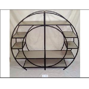 Mueble redondo con 7 entrepaños de  160x40x142cm