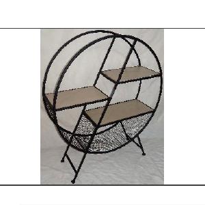 Mueble redondo con 3 entrepaños de 90x28x108cm