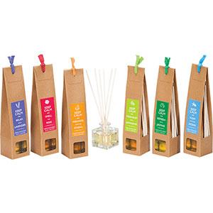 Paquete con esencia en aceite con varas y frasco en diferentes aromas de (KEEP CALM)