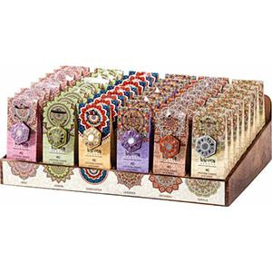Paquete con 40 conos y base aroma Rosas