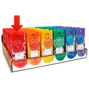 Paquete de 40 conos de incienso con aroma Amor y quemador