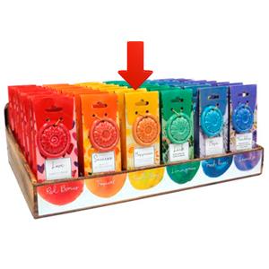 Paquete de 40 conos de incienso con aroma Felicidad y quemador