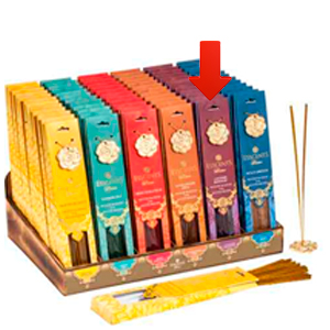 Paquete de 30 varas de incienso con aroma Lavanda y quemador