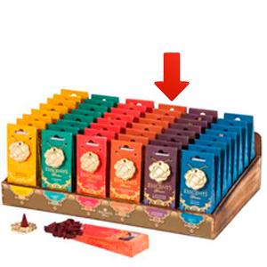 Paquete de 30 conos de incienso con aroma Sándalo y quemador