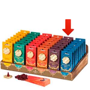 Paquete de 30 conos de incienso con aroma Lavanda y quemador