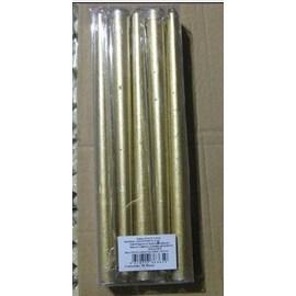 Paquete de 10 velas doradas de 25x2.5cm