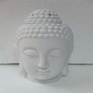 Porta inciencio de cabeza de Buda Blanco