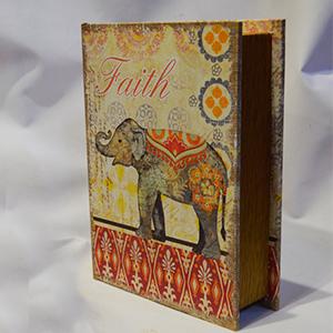 Caja portalibros con estampado de Elefante de 24x18x6cm