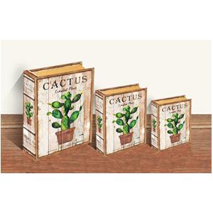 Caja porta libros con estampado de Nopal de 30x24x8cm