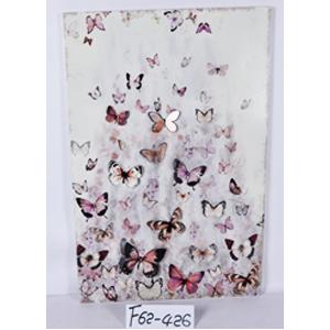 Cuadro 3D diseño mariposas rosas de 53x80x2cm