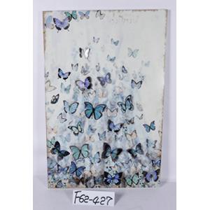 Cuadro 3D diseño mariposas de azules de 53x80x2cm