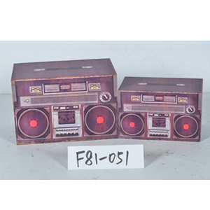 Caja de madera diseño Radio de 24x14x15cm