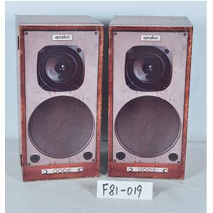 Par de Cajas de madera diseño Bocinas de radio de 30x30x60cm