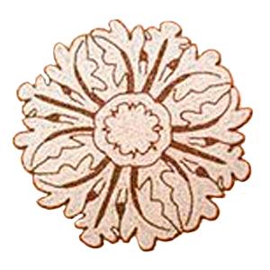 Bajo plato bordado de shakira diseño flor beige con dorado de 35cm