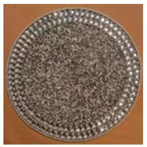 Bajo plato bordado de shakira blanca con perlas en la orilla de  35cm