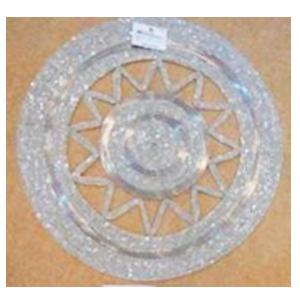 Bajo plato bordado de shakira blanco con diseño estrella de 35cm