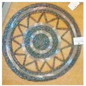 Bajo plato bordado de shakira plata diseño estrella de 35cm