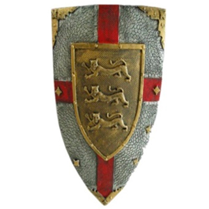 Escudo decorativo de látex medieval de 54cm