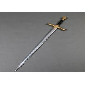 Espada decorativa de látex diseño medieval de 63cm