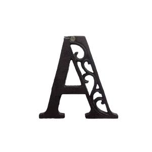 Letra A de hierro de 10cm